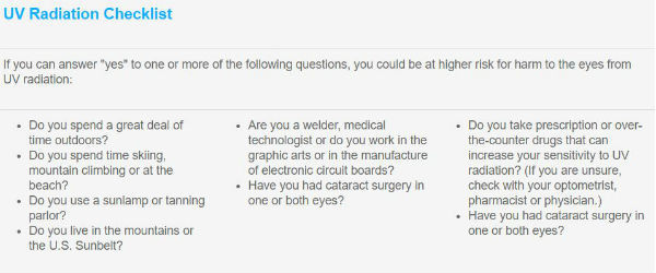 AOA UV Checklist
