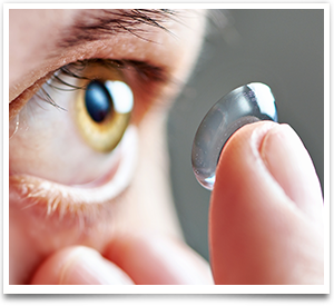 Contact lens and eye