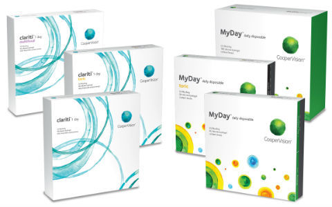 clariti and MyDay product boxes