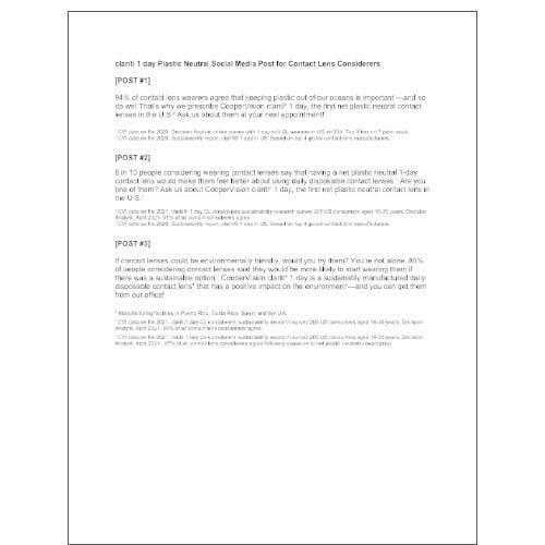 General Sustainability Social Media Post Copy
