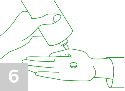 Step 6: Place the lens in the palm of your other hand and cup that hand slightly.