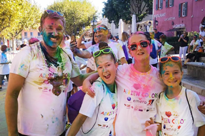 CooperVision France employee color run event