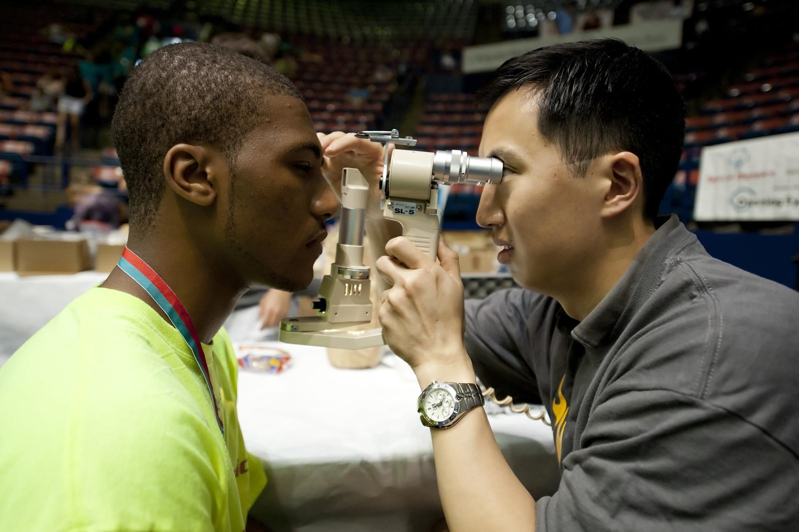 Eye testing for athletes