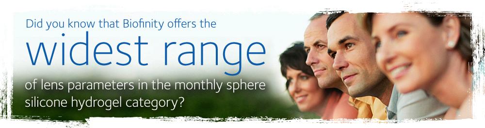 Biofinity® & Biofinity® XR contact lenses