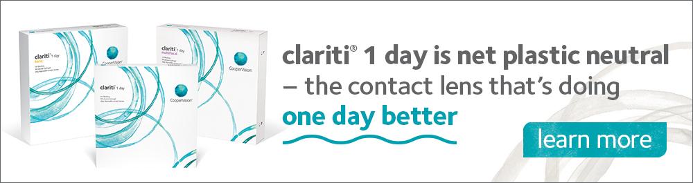 clariti 1 day is net plastic neutral