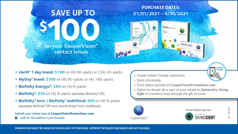 CooperVision National Patient Rebate