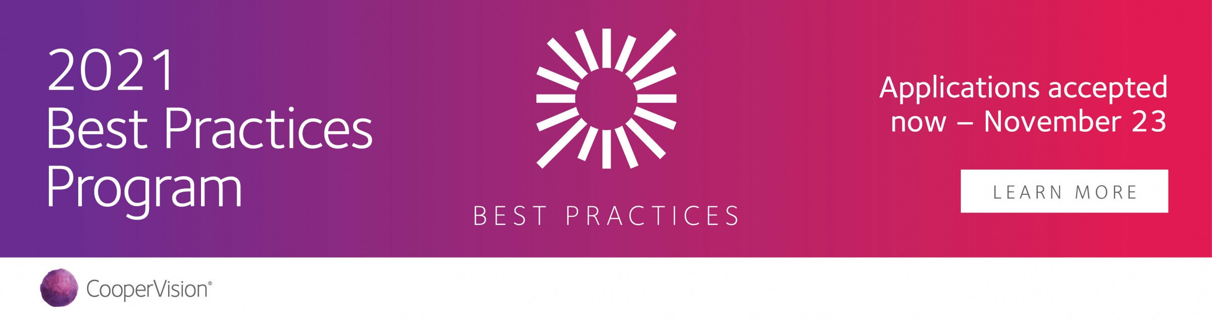 CooperVision 2021 Best Practices