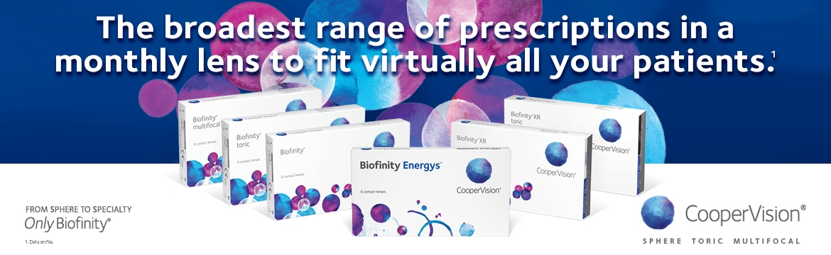CooperVision Only Biofinity Family Banner
