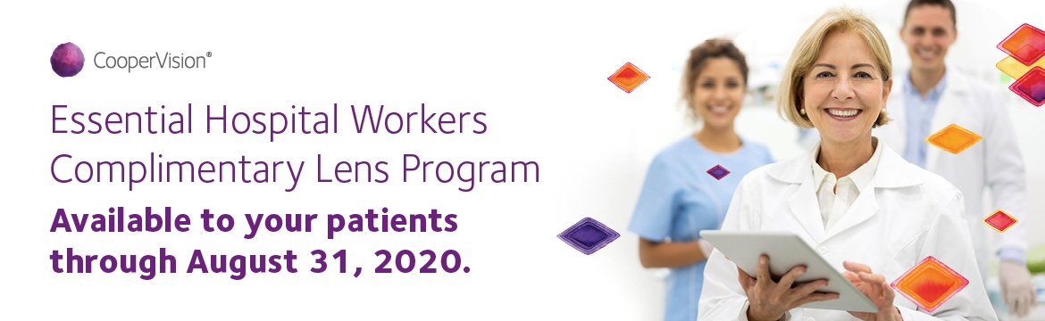 CooperVision Essential Healthcare Workers Complimentary Lens Program
