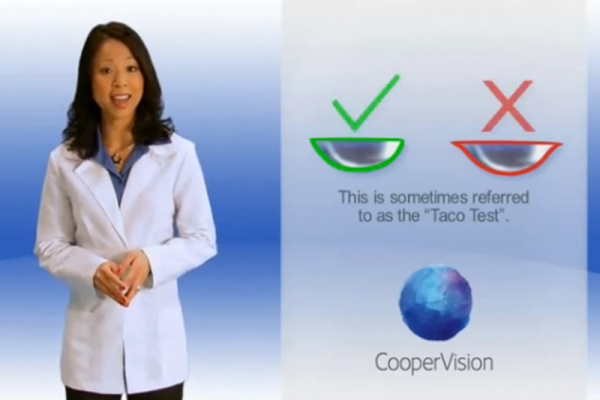Contact lens application and removal video